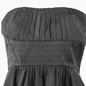 BCBG MAXAZRIA Black Strapless Dress with Pockets S